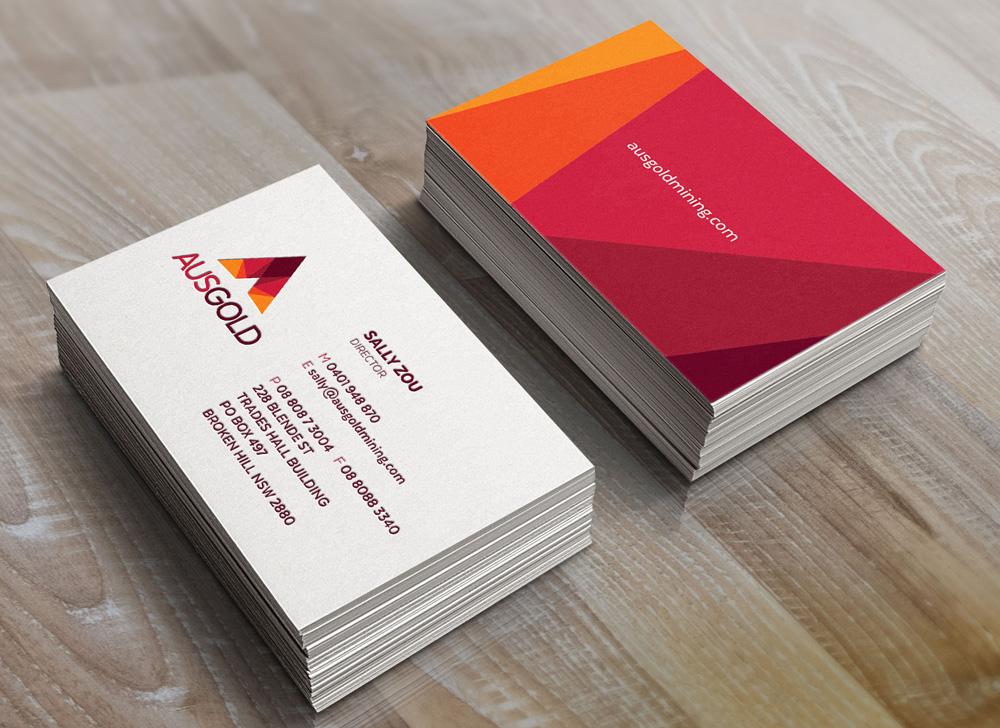 ausgold-business-card-design