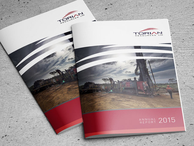 Annual report designed for Torian Resources